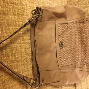 COACH Purse. F1376-F23931 Park Taupe Woven Leather